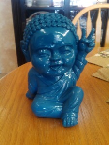 Now this looks pretty ridiculous and incredibly tacky. But somehow there may be Buddhists who seem to buy it. Of course, some might be a fan of The Smurfs.