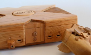 However, you wouldn't be able to play video games on this XBox 360 Console. Because it's all made from wood and just for show. Still, would go great in any entertainment center.