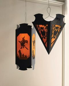 Use construction paper and cut out black silhouettes to stand out. You can even hang them overhead or put them on the ground. It doesn't matter.