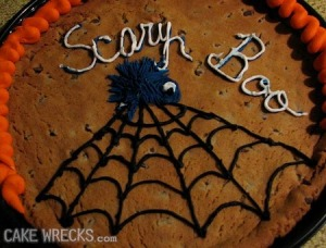Sorry, but I don't think a spider is helping in this situation, especially if it looks like a cute little fur ball. This cake is lame.