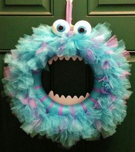 Now this is not very scary in the least since it kind of reminds you of Cookie Monster's cousin. But I'm sure your guests will love it.