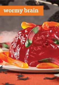 Yes, it's disgusting but at least you can add the gummy worms after making the jello brain. Now as how to get a jello brain mold, you might need to visit Amazon.