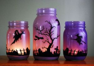 Now this is cool. Love how they paint the jars just the right color to show a sunset as the spooky stuff comes into play.