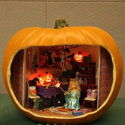 The Spooky World Of Halloween Pumpkin Dioramas The Lone
