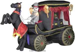 And I see the coachman is a skeleton in a top hat. And the passenger is a corpse in its own casket. Looks like something startled the horse.
