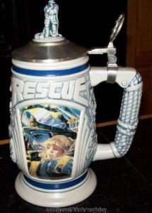 For some reason, this doesn't look like a traditional stein to me. More like a beer stein with a similar design you'd see on a plastic kids' mug.