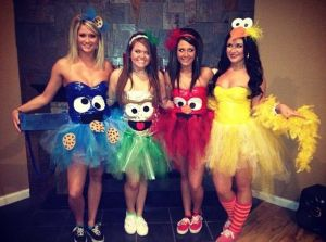 Who needs to sex up Sesame Street characters when you can make tutus with their faces. Now these are great costumes for women. The sexy Bert and Ernie ones were the worst.