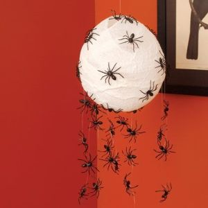 Now this is very creepy and will certainly creep out your Halloween party guests. Anyone scared of spiders might want to avoid your place next time.