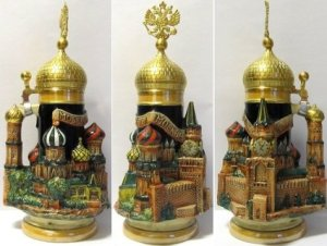 Now this is pretty elaborate. Hate to drink out of that thing. Wonder if Putin has a stein like this.