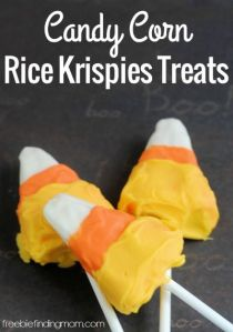 Let's hope they taste like Rice Krispies, marshmallow, and icing they're made from and not real candy corn. Honestly, candy corn is disgusting.