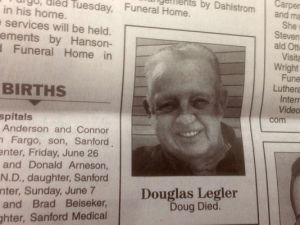 Man, how many people wish they can do an obituary in two words or less like this guy. Just
