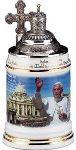 Yes, it commemorates the visit of Pope Benedict XVI to Germany. However, it's the only papal stein I could find. Have to make do with what you got.