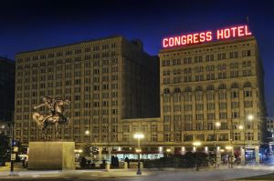 Since its opening in 1893, Chicago's Congress Plaza Hotel has had a long and colorful history from protests to presidential guests. It's also been the place for a lot of haunted ghost sightings, including that of a hobo and a guy in disco attire.