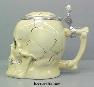 Heard that Lord Byron used to do this all the time. However, he'd drink from actual skulls. This one is ceramic, which is significantly less disgusting.