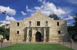 The Alamo is a symbol of Texas as well as the site of the famous battle fought there. However, I'm not sure if you'll find the ghosts of Davy Crockett, Jim Bowie, or William Travis. Didn't really look that up.