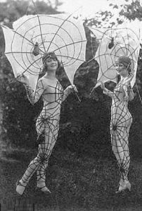 You see, the sexy costume trend isn't as recent as you think. Still, despite this image not being at least PG, spiderwebs are an appropriate Halloween motif.
