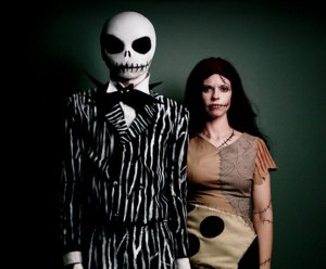 Now the couple's costume consists of Jack Skellington, the Pumpkin King and his rag doll gal, Sally. Since it has a big fan base and is associated with Tim Burton, had to include these two.