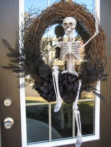 I'm sure this skeleton is just hanging around to greet the guests. Doesn't really mean to scare anybody.