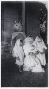 And I suppose everyone here is dressed like ghosts in order to scar the neighbors. Then again, they were probably very easy to make. But they're just as scary.