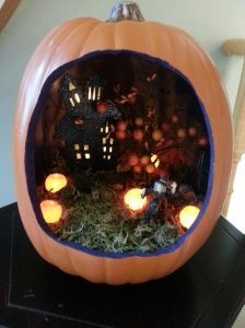 Now I like how the pumpkins seem to glow in the dark. Still, that tree seems to have a lot of large fruit.