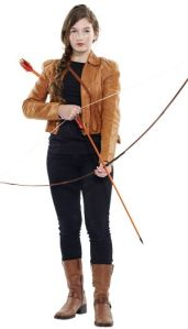 Let's just say you don't want to mess with her when she has her bow and arrow out. I mean she had to kill people with it to survive the Hunger Games. You know the competition where 24 teenagers from Panem are selected to fight to the death.