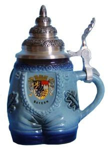 Yes, this is a beer stein depicting a pair of pants from Bavaria. No, I am not making this up. Believe me, I came across this on Pinterest.