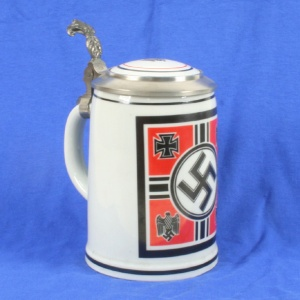 Actually don't because Hitler and his Nazi thugs were very horrible people. However, I'm showing a picture of this Nazi beer stein for historical purposes. Yes, the Nazis did celebrate Ocktoberfest and they drank from Anti-Semitic steins like these. So to my viewers, do not, under any circumstances, buy or use this stein. I repeat do not buy or use this stein.