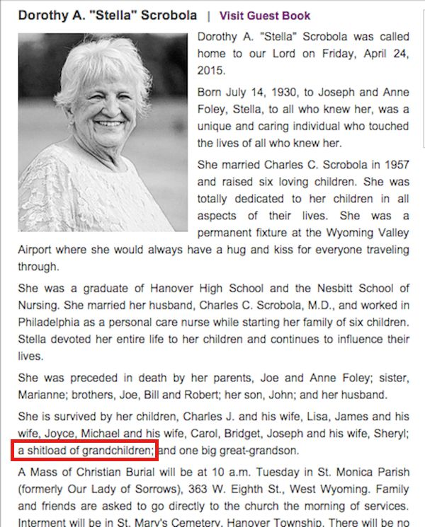 Sample Obituaries Women Images - Reverse Search