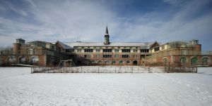 Though originally built as a tuberculosis treatment center for children, Waterford's Seaside Sanatorium had a reputation for a high suicide rate and abuse while it was a mental institution. Now abandoned, there are plans to tear it down.