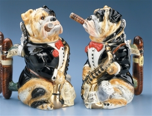 Well, at least the bulldog has a cigar like Winston Churchill. Still, I have to confess that I really don't associate bulldogs with big band or jazz music.