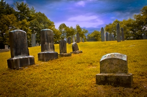 Pine Hill Cemetery was founded in 1769 on land donated by a man who had to sell his farm. It's said to have family that's been murdered in the 1800s but records don't hold that story up.