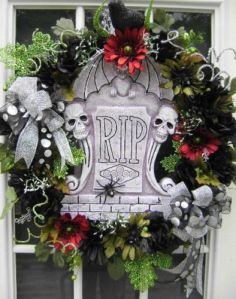 Not sure if anyone would find this dead funny. However, it might send some thinking that you're dead crazy. Still, the wreath looks like something you'd see in a cemetery.