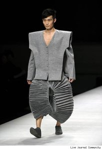 Of course, his pants just look like you can use them in an accordion. They also make him look like an idiot.