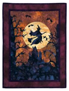 Yes, this is perhaps the ultimate Halloween quilt. But if you want one, I'd recommend buying one. Quilts take a very long time to make.