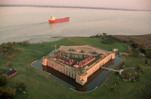 While Fort Delaware experienced military activity as early as the War of 1812, it's best known for being a Civil War military prison. Continued military operations until after WWII.