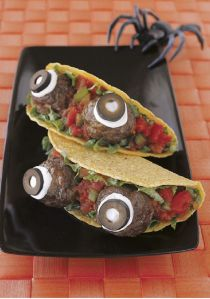Of course, you might need to use meatballs for these tacos. Still, despite creepiness, this seems like an awesome idea.
