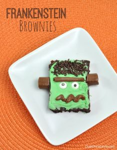 Now this is pretty clever. Love how they used chocolate bits for the brow, mouth, and bolts.