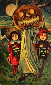 While Pumpkin headed men in white sheets could be leading children to their untimely deaths. Yeah, stay way from pumpkin headed ghosts, please.