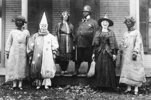 Yes, many of these costumes are terrifying. But if you're black and/or Native American, only the clown and witch won't offend you. Also, I think the Indian princess might work for the Washington Redskins or Cleveland Indians.