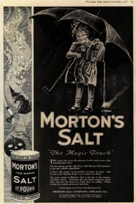 Is it just me or does the Morton Salt girl seem to scare the freaking bejesus out of me in this? Seriously, that girl looks so creepy.