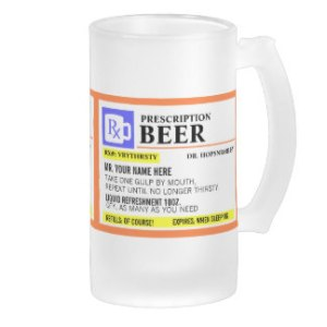 I posted a similar one for my post on mugs but it was for coffee. But I'm sure anyone who drinks out of this is bound to be drunk off their ass. I wonder if I should get this for my Uncle Frank who's a doctor. Then again, I gave him a Steeler mug last year.