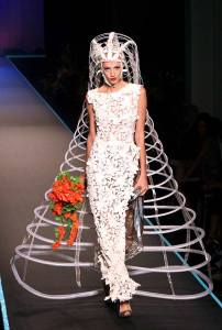 Let's just say if this is a chic wedding look in the 22nd century, God help my descendants. It's ridiculous in my opinion.