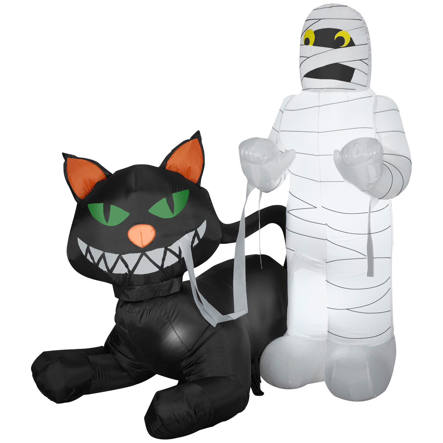Outdoor inflatable halloween decorations - Yeah The Mummy Isn T Too Happy While The Cat Is Grinning Hope
