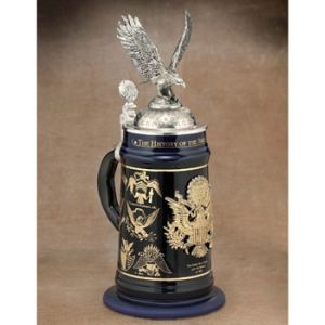 Now that's a nice beer stein. Sort of looks like a stein Obama would use. Kind of seems presidential for some reason. Yeah, probably due to the seal.