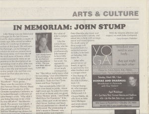 John Stump? Never really heard of him. Then again, I really don't keep tabs on a lot of composers in Hollywood anyway. Still, this obit is pretty funny.