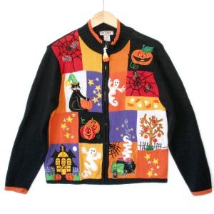 Now this seems like a tacky patchwork in the making. Still, the pumpkin seems smiling but there doesn't seem to be a candle in it.
