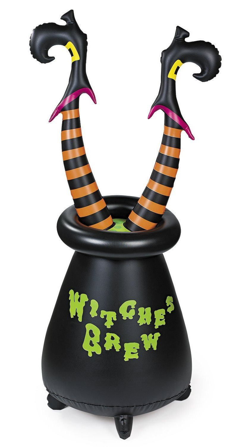 Outdoor inflatable halloween decorations - Seems Like She Should Know Better Than To Dive Into The Witches Brew Head First