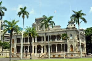 From 1845 to 1893, the Iolani Palace was home to the last rulers of the Hawaiian monarchy (and it's said that some of the royal family members still reside there as ghosts). Under US rule it would be used as the Hawaiian seat of government until 1969. It's the only royal palace on US soil.