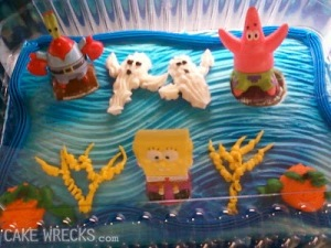 Let's just say when it comes to pop culture, a Spongebob Squarepants cake really doesn't make a great backdrop. In fact, it looks absolutely stupid.