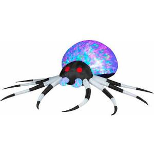 Now this spider's but is about as illuminating as a disco ball. Yeah, more suitable for a rave. Hope its web has glittering lights.